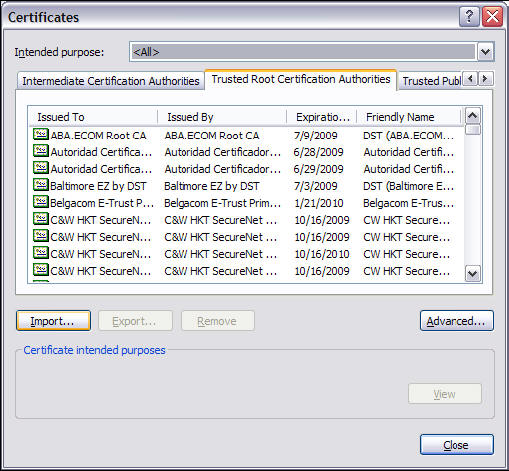 DOD Certificate installation procedure 3